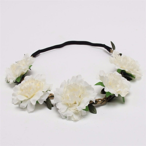 headband tiara coroa flores festival praia