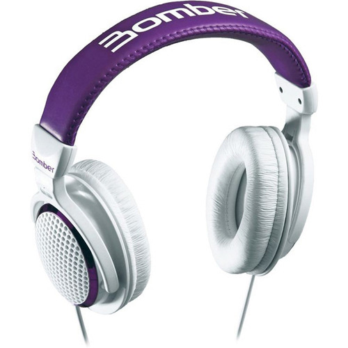 headphone bomber violeta branco hb01 bomber 190002