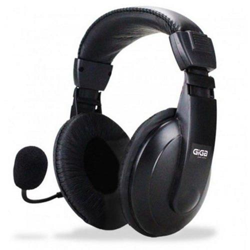 headphone com microfone gamer headset pc note + mouse óptico