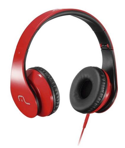 headphone com microfone para celular verm. multilaser -ph112