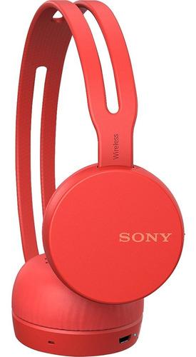 headphone fone de ouvido bluetooth wh-ch400/r vermelho sony