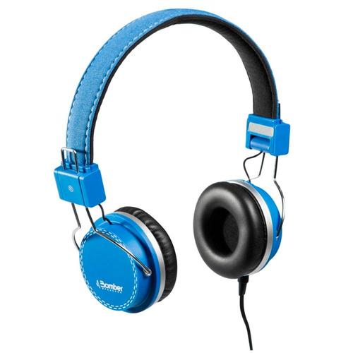 headphone fone de ouvido bomber azul - hb02 quake blue