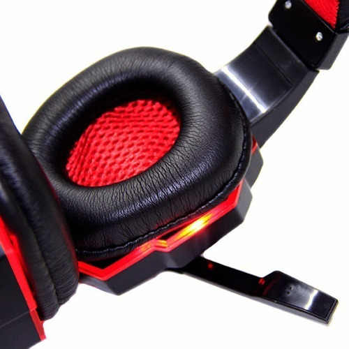 headphone gamer haiz 1802 led fio corda super bass microfone