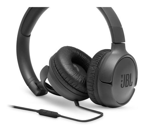 headphone jbl t500 over-ear com fio  com microfone