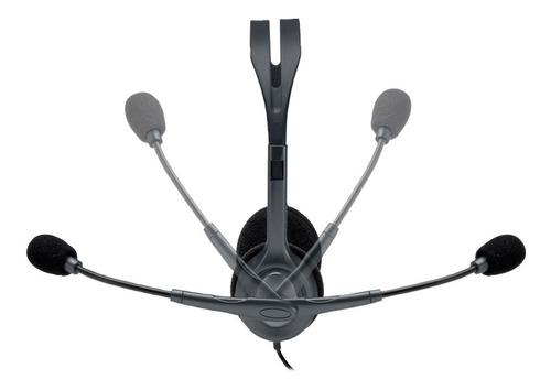 headphone multidispositivos logitech h111 - 12x sem juros
