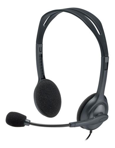 headphone multidispositivos logitech h111 - novo