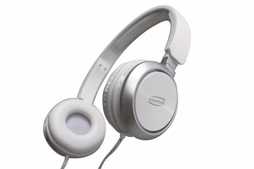 headphone premium branco new link hs115