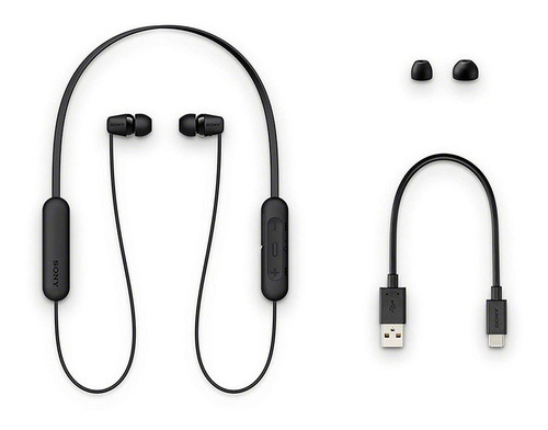 headphone sony intra-auricular bluetooth wi-c200 preto