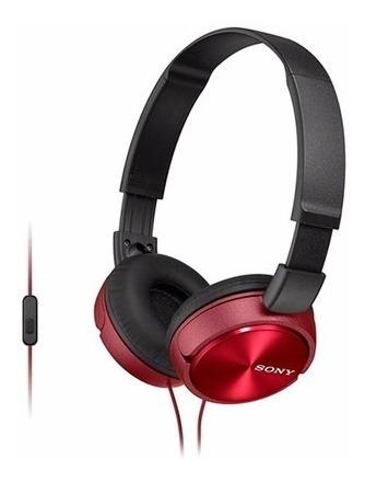 headphone sony mdr-zx310ap/rq vermelho