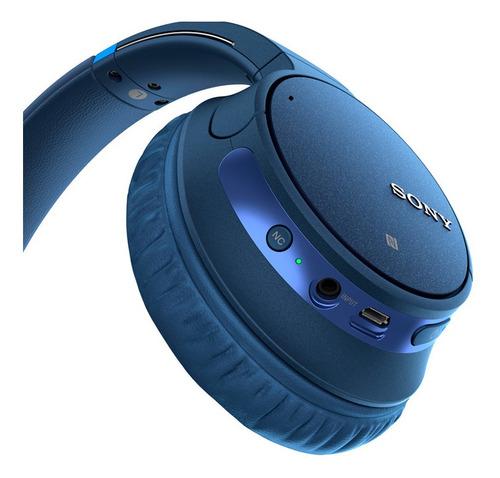 headphone sony wh-ch700n com noise cancelling sem fio azul
