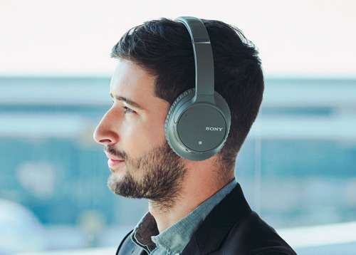 headphone sony wh-ch700n com noise cancelling sem fio cinza