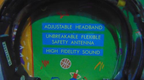 headphones c/rádio am-fm *lenoxx sound 885. novo! lacrado!