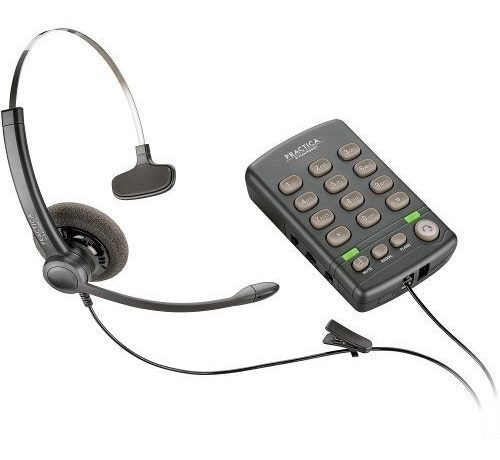 headset c/ base com teclado pratica t110 - plantronics