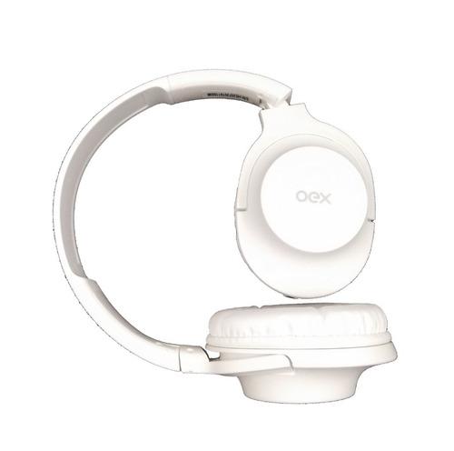 headset fone de ouvido hs207 branco microfone flow dobrável