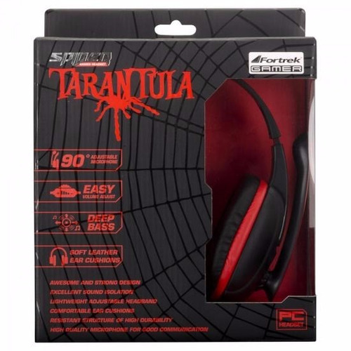 headset fortrek gamer spider tarantula pc/xbox 360