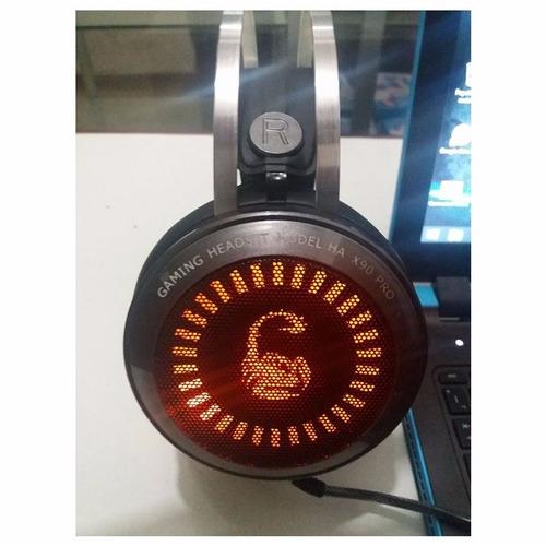 headset gamer 5.1 usb halion x90 pro gris lince