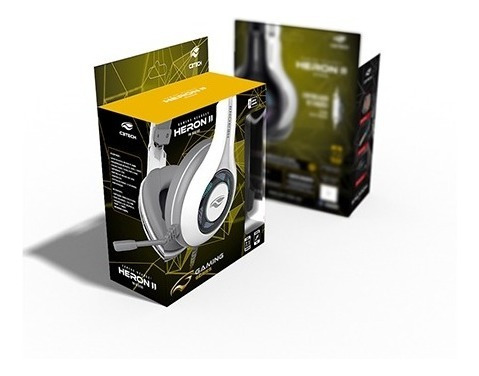 headset gamer c3 tech branco c/ microfone usb heron 2