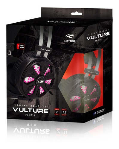headset gamer c3tech vulture ph-g710
