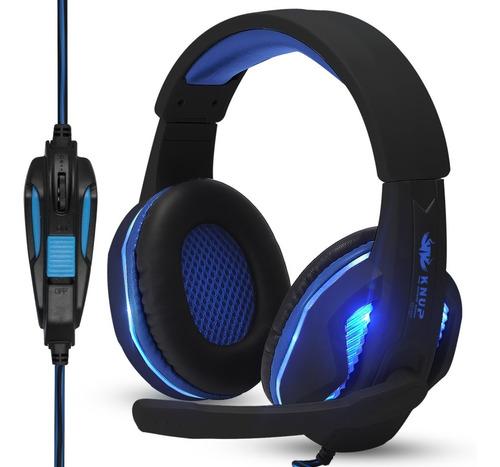 headset gamer pc fone ouvido ps4 celular knup p2 usb leds