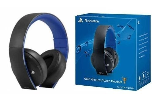 headset gold 7 1 wireless stereo sony ps4 ps3 ps vita pc. Black Bedroom Furniture Sets. Home Design Ideas