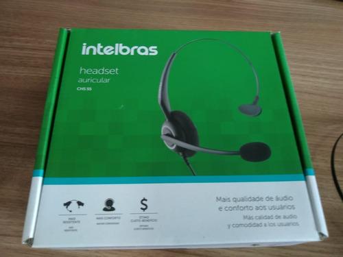 headset intelbrás hsb50 com base discadora e cabo telefônico