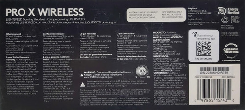 headset logitech g pro x lightspeed modelo 981-000906