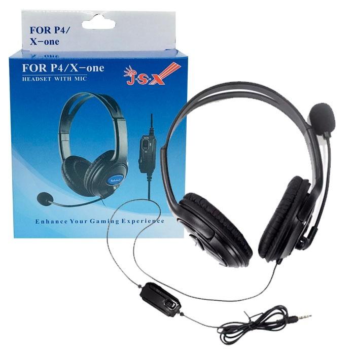 Headset Microfone Gamer Playstation4 Xbox One Pronta Entrega - R$ 84 ...