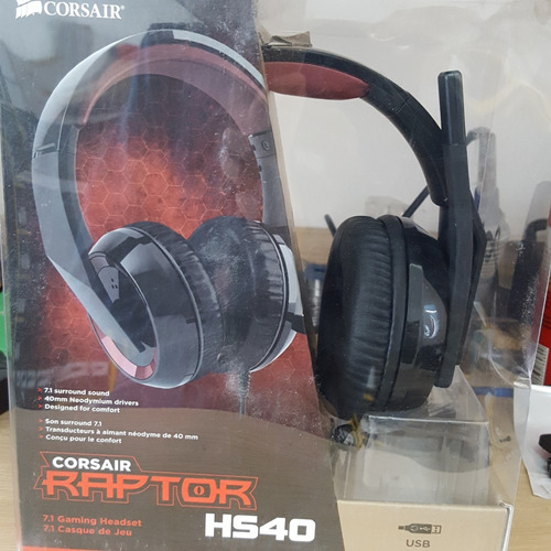 headset raptor hs40 gaming pc gamer microfone