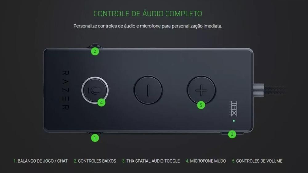Headset Razer Kraken Tournament Usb Thx Spatial Audio Novo