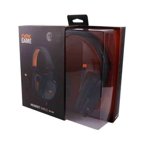 headset shield preto surround 7.1 cont multifuncional hs409