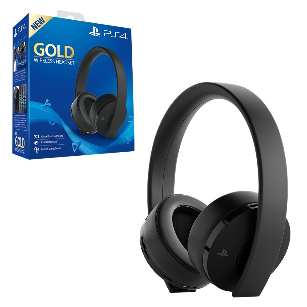 headset sony new gold wireless 7 1 ps4 play vr novo 2018. Black Bedroom Furniture Sets. Home Design Ideas