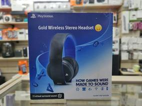 Headset Sony Stereo Gold Sem Fio - Ps3, Ps4 E Ps Vita