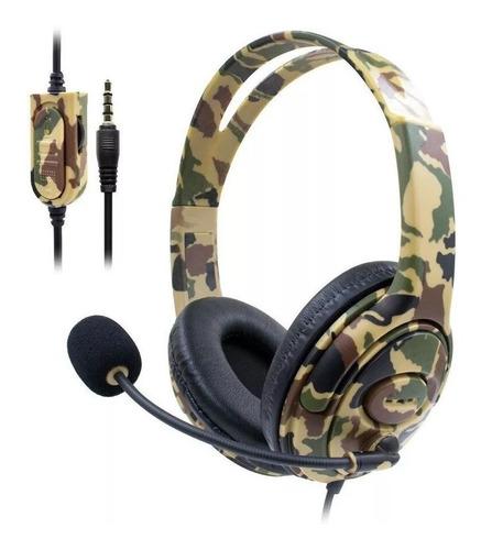 headset video game gaming para p4/x-one camuflado 7&7