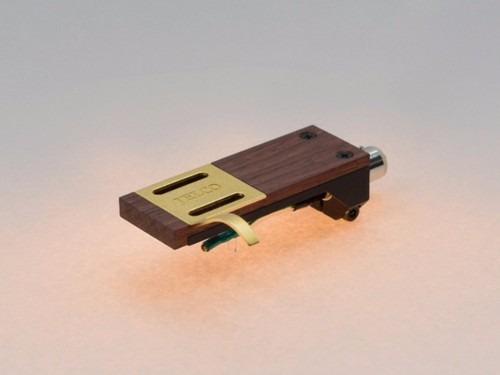 headshell de madeira para toca discos jelco hs-30