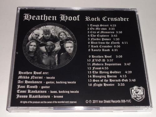 heathen hoof rock crusader cd heavy metal finlandia