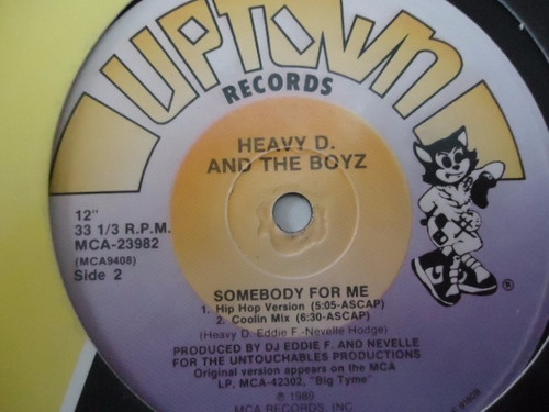 heavy d & the boyz / somebody for me vinyl lp acetato