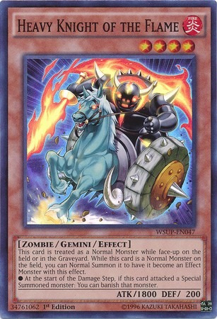 heavy knight of the flame - wsup-en047 - super rare 1st edit