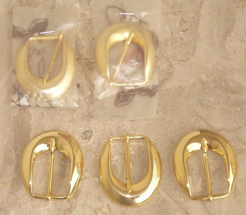 hebilla (5) para cinturones, metàlicas doradas nuevas, ver