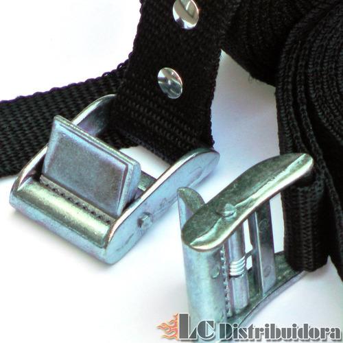 hebilla atraque pala metal de 25mm para cinta correa amarre