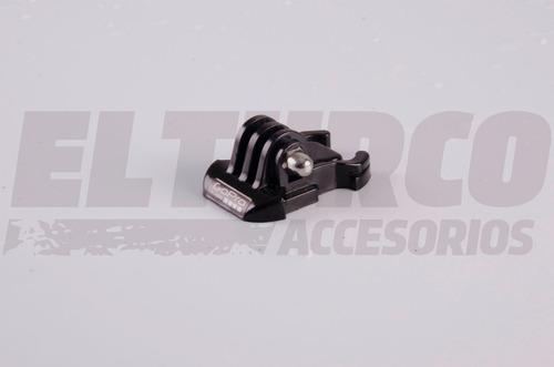hebilla clip gopro montaje camara universal casco -