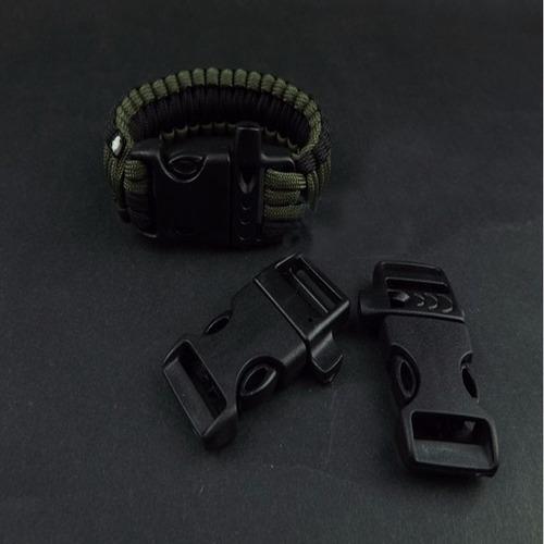 hebilla con silbato, ideal para paracord o mochilas