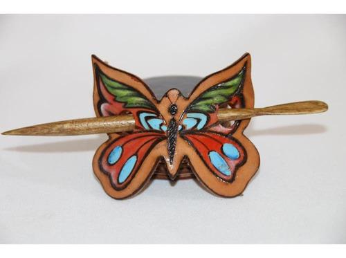 hebilla  mariposa de cuero