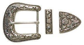 hebilla para cinturón vaquero acabado antique ( 3 piezas)
