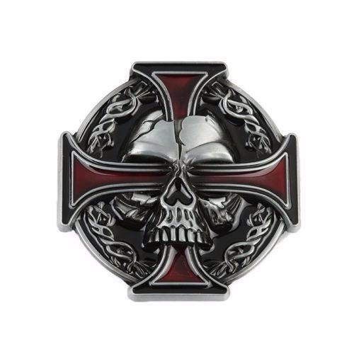 hebillas  para hombre cruz  cráneo metal gótica  rock