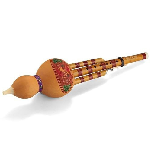 hecho a mano chino calabaza bambú cucurbit flauta étnica