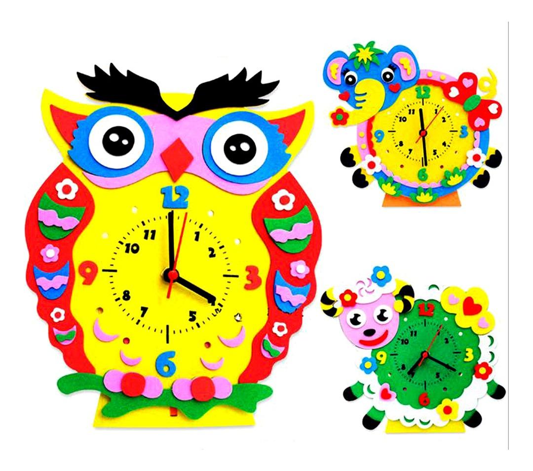 Hecho A Mano Diy 3d Animal Aprendizaje Reloj Niños Artesanía