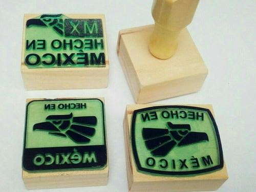hecho en méxico sellos de goma