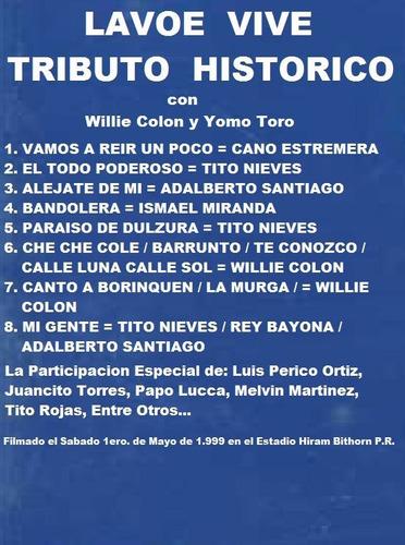 hector lavoe tributo historico dvd