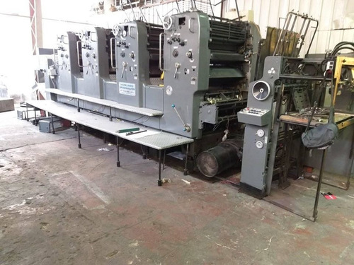 heidelberg speedmater 72v, 4 colores formato 52x72 impecable