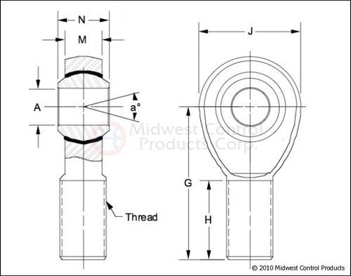 heim joint rod end rotula 1 1/4 rockcrawler buggy jeep